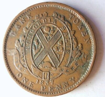 1837 CANADA (LOWER) PENNY - Great Coin - RARE  + VALUE - Lot #J21