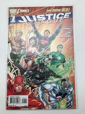 Justice League 1 DC Comics 2011 VF/NM New 52 Jim Lee Geoff Johns Rare Sold Out