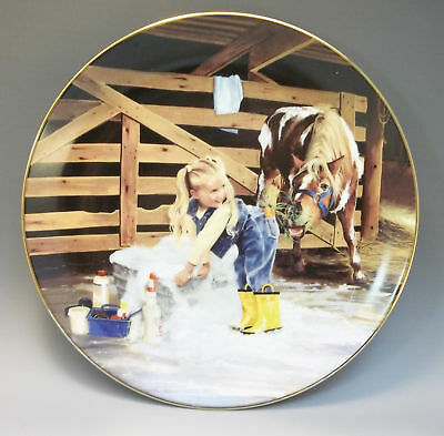Danbury Mint Country Companions Zolan Collector Plate Horsing Around Horse Pony