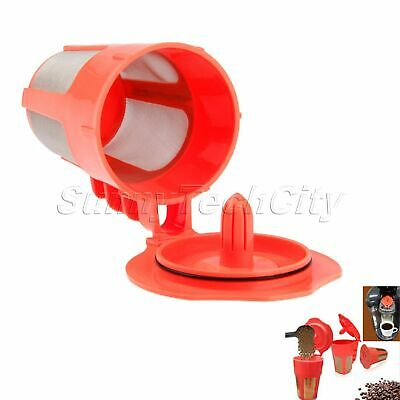 Red Reusable Coffee Filter for Keurig 2.0 Brewers System Coffeemaker i Cafilas