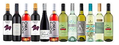 Mix Wine Pack - Dinner Party Sampler  - 12 x 750ml Free and Fast Delivery