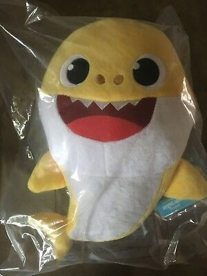 WowWee Pinkfong Baby Shark Song Official Singing Plush Doll - Yellow Baby Shark