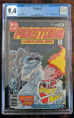 DC Comics Firestorm #3  CGC 9.4: 1st appearance Killer Frost (CW Flash TV show)