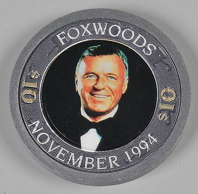 Foxwood Casino Gaming Chip $10 Frank Sinatra November 1994 Uncirculated