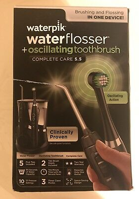 Waterpik WaterFlosser Oscillating Toothbrush~Open Box~New Sealed Machine~WP 812W