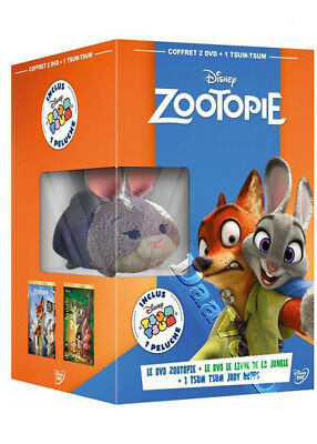Zootopia & The Jungle Book plus Judy Tsum Tsum Figurine NEW PAL 2-DVD Boxset