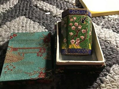 Vintage Japanese Or Chinese 'trinket Box' In Original Box