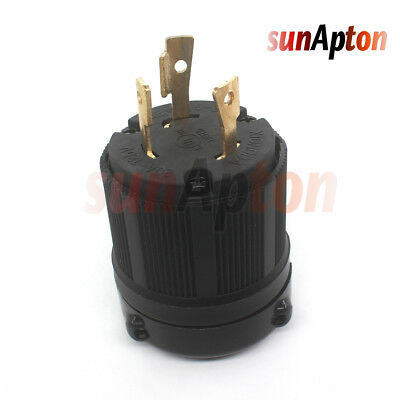L15-30 Plug - NEMA L15-30P Locking Plug, Rated for 30A, 250V UL Approval Safety