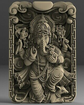 3D STL Model # The God Ganesha # for CNC Aspire Artcam 3D Printer 3D MAX