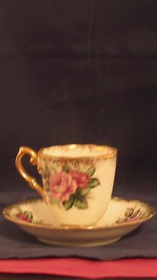 Antique Orginal Napco China Cup and Saucer SD153 Hand Painted