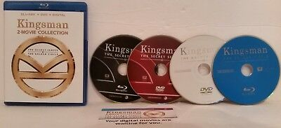 Kingsman 2-Movie Collection Blu-ray, DVD, and Digital Download 4 DISC..FREE SHIP