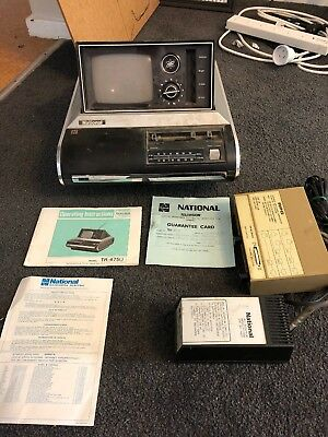 Portable Television National TR-475U 70s Complete