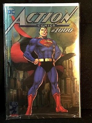 Action Comics #1000 SDCC 2018 Jim Lee Silver Foil Exclusive Bagged and Boarded