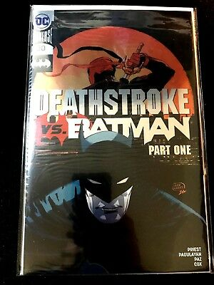 Deathstroke Vs. Batman #30 Silver Foil C2E2 Variant Sealed Bagged and Boarded