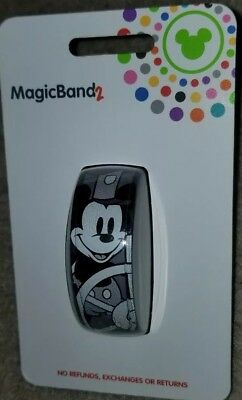 NEW Disney Parks Mickey Mouse Steamboat Willie Magic Band 2 LINKABLE