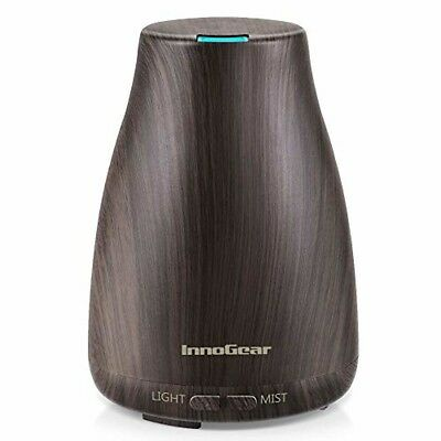 InnoGear Upgraded Wood Grain Aromatherapy Essential Oil Diffuser Ultrasonic Diff