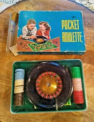 Vintage Pocket Roulette Game In Box Toy