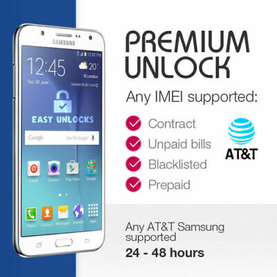 Factory Unlock Code for AT&T ATT Samsung S9 S8 S7 S6 ACTIVE & EDGE NOTE 8 5 4