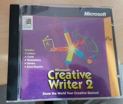 Microsoft Creative Writer 2 (Windows 95) PC CD Rom - Original - Good Condition