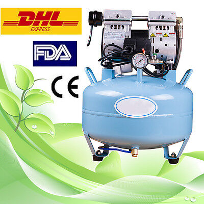 dental silent Noiseless Oil fume Oilless Air Compressor 30L lab equipment CE FDA