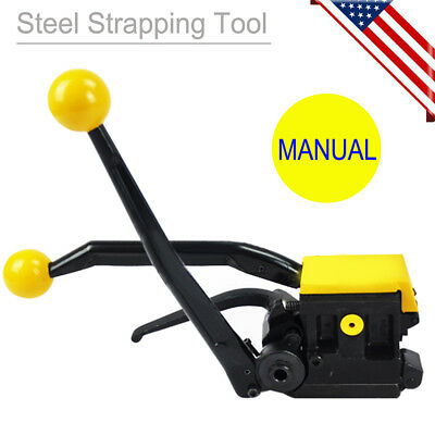 "Manual Steel Strapping Tools for Strapping Width 1/2""-3/4"" Steel Strap Easy Use"