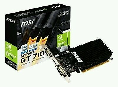 Low Profile MSI nvidia Geforce GT710 1 GB DDR3 Graphics Card HDMI DVI VGA