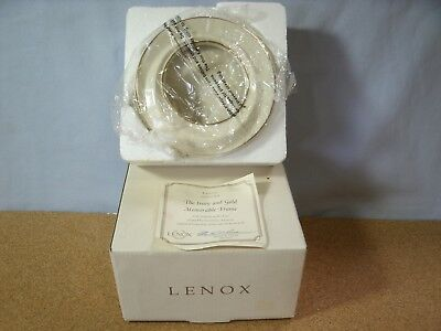 LENOX THE IVORY AND 24k GOLD MEMORABLE FRAME