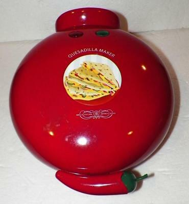 QUESADILLA MAKER Electric Sensio Non-Stick Red Kitchen Appliance Shelf Pull New