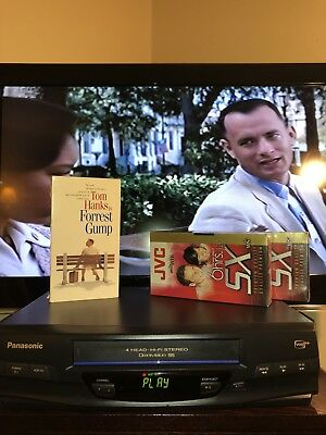 Panasonic PV-V4520 Omnivision 4 Head VCR  Player Includes Forest Gump + 2 Tapes