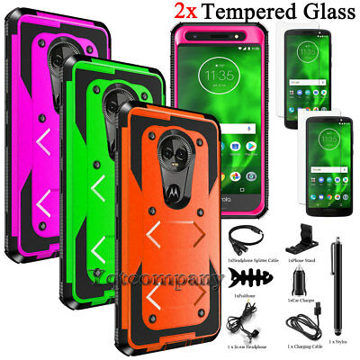 For Motorola Moto G6 Case,Shockproof Protective Rubber Hard Rugged Armor Cover