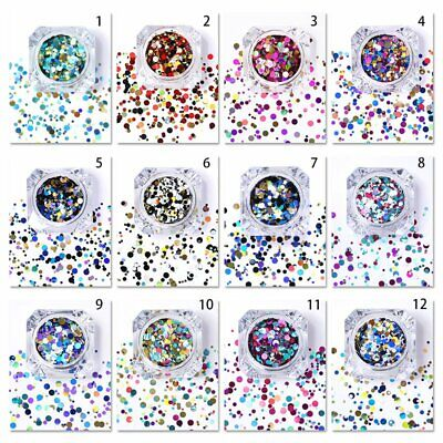 Chunky Glitter Pots Mix Face Nail Eye Body Tattoo Festival Cosmetic Dance Party