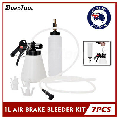 Air Brake Bleeder Kit Clutch Oil Vacuum Bleeding Extractor Fluid Fill Adapter