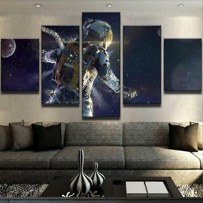 Home Decor Canvas Print Painting Wall Art SURREAL ASTRONAUT CANVAS SET