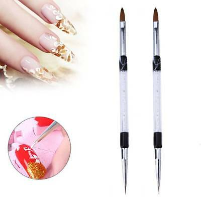 Double Head Nail Art Brush Painting Lining Sculpture Pen Crystal Tool  Durable
