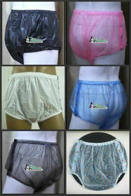 5 pairs * New  ADULT PLASTIC PANTS  PVC  incontinence # P004(Color mixed sale)