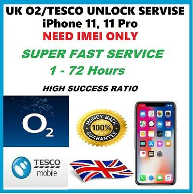 Unlock Code Service iPhone 11, iPhone 11 Pro Max O2 Tesco Giffgaff UK Unlocking