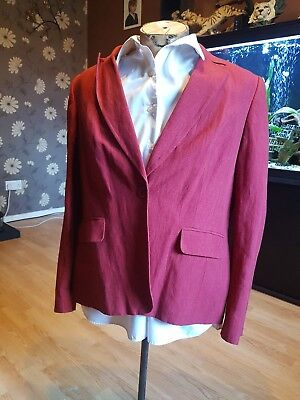 Ladies Formal linen suit Jacket Laura Ashley 18 red