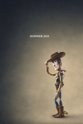 TOY STORY 4 MOVIE POSTER 2 Sided ORIGINAL Advance WOODY 27x40 TOM HANKS DISNEY