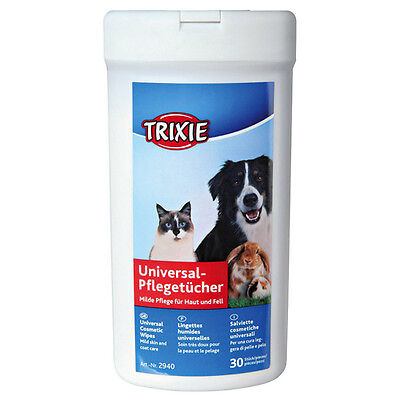 Trixie Universal Care Wipes for Dogs - Contents: 30 Pieces, New