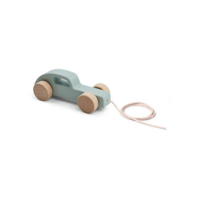Wooden Pull Along Toy - Dusty Mint Car baby kids newborn wrap muslin squares