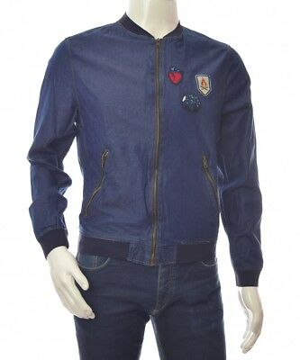 667d95af ZARA MAN MENS Men's Jacket Jean Jeans Denim Bomber ~ Eu M - $54.87 ...