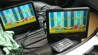 Nextbase CAR DVD player - 9 inch with twin  screens and remote.