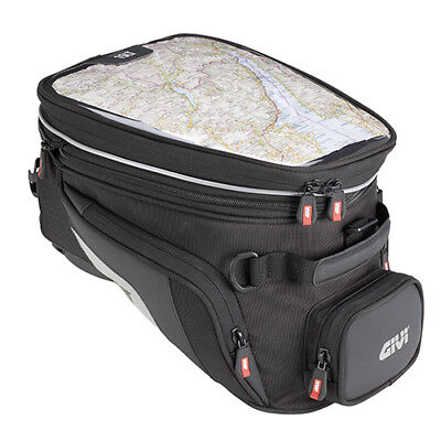 Givi XS320 Tanklock Motorcycle Expandable Tank Bag Luggage In Black