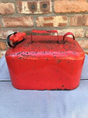 Vintage Red Petrol Fuel Can