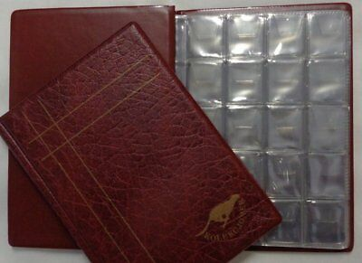 Collection Coin Album Burgundy for one pound and many type small coins 160 slots