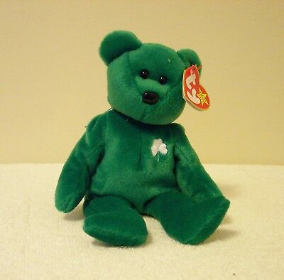 "Ty Beanie Babies Collection  "" Erin""   Named After The Beautiful Emerald Isle"