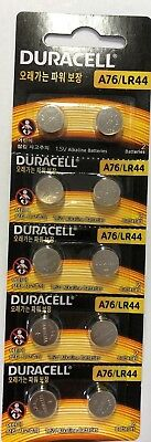 Pack of 10 Duracell 76A LR44 Alkaline Button Batteries Exp. 2023 Ships from USA!