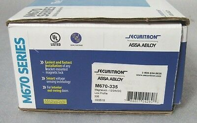 Securitron ASSA ABLOY M670-335 Magnalock Satin Black 1100 lbs force [CTNO]