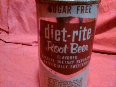 Rare Diet Rite Root Beer can opened