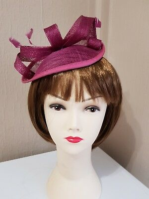 **SALE** Raspberry Hatinator Fascinator on Headband Wedding Races BNWT